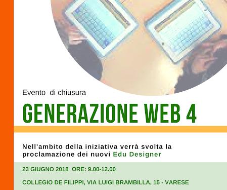 Evento di chiusura Generazione Web 4: è ora di festeggiare!